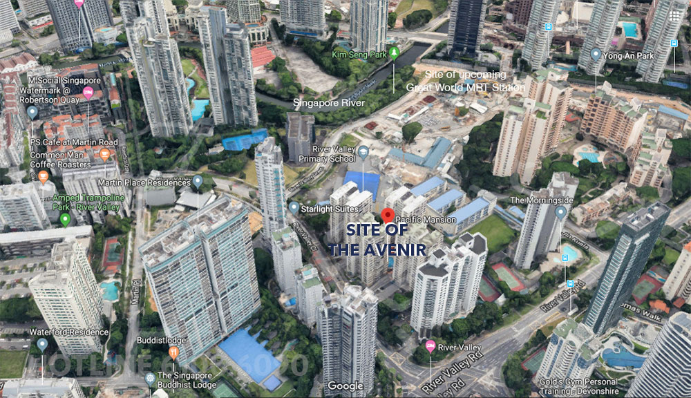 The Avenir Condo Location Map