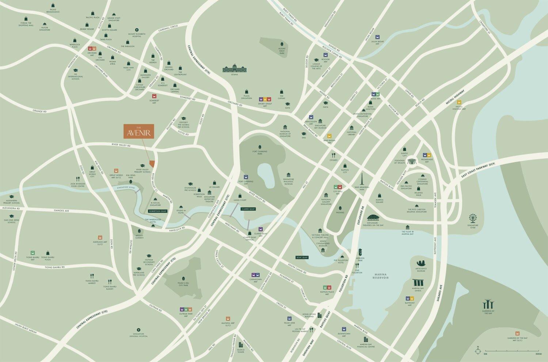 Avenir Location Map